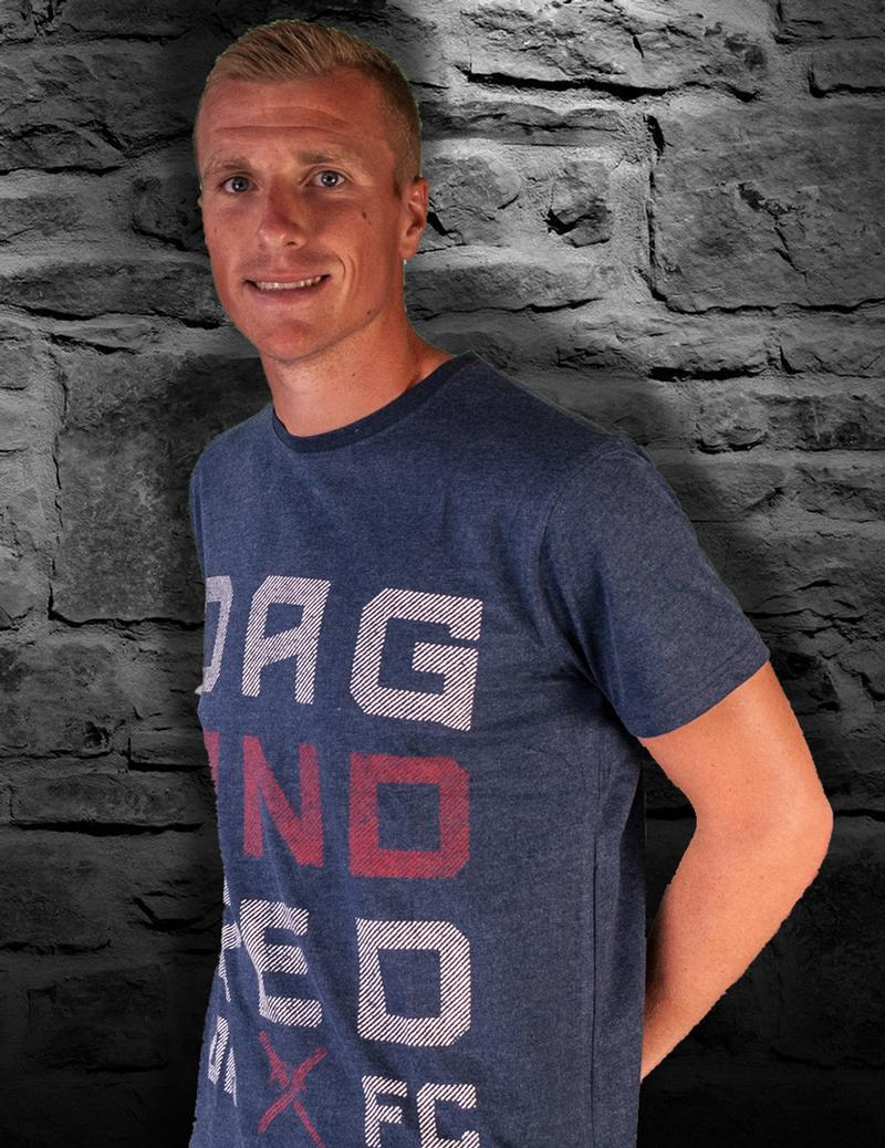 Adult Dag and Red Detail Blue T-Shirt
