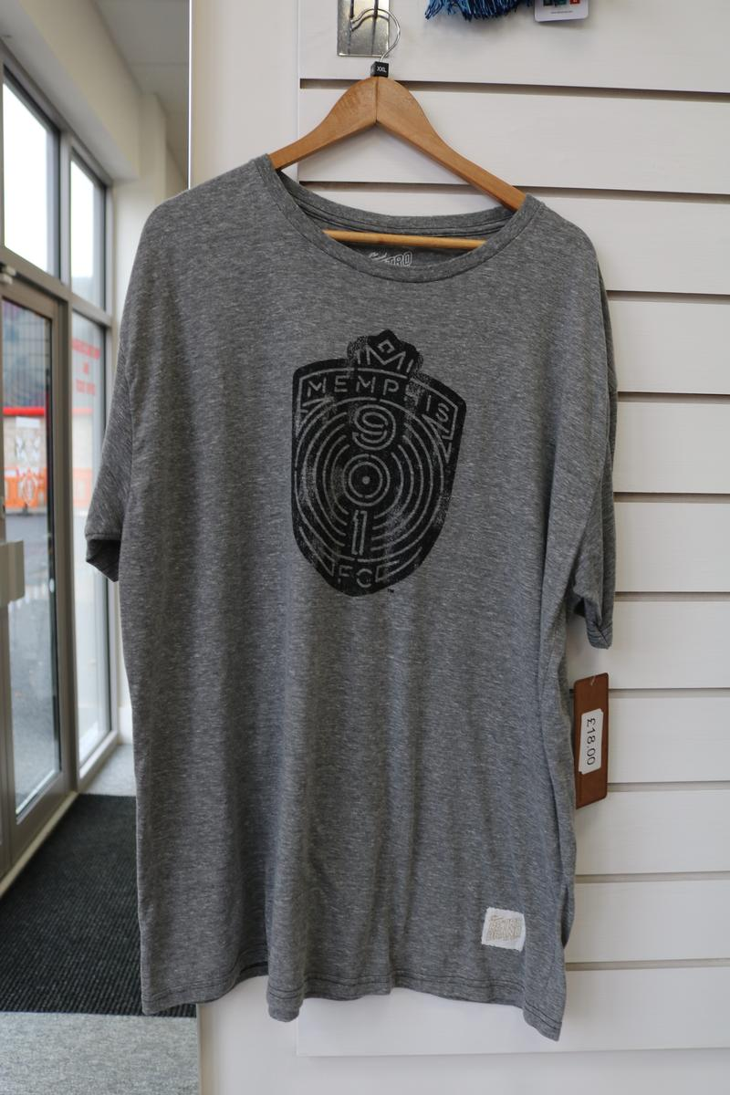 Adult Memphis Crest Grey T-Shirt