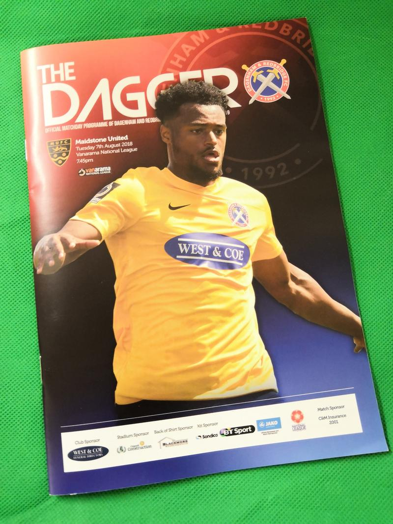 2018/2019 Matchday Programme