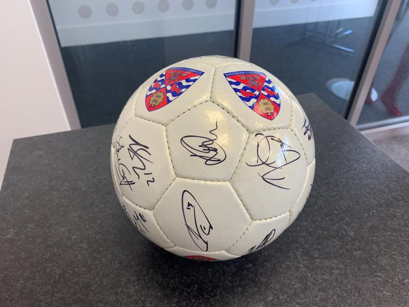 Signed Daggers Crest Football