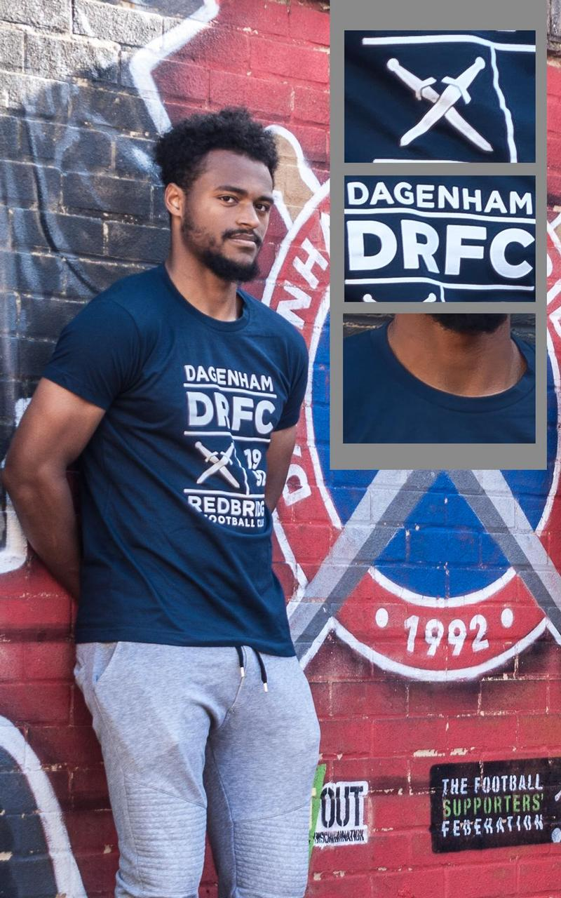 Adult Mens Dagenham & Redbridge Detail T-Shirt