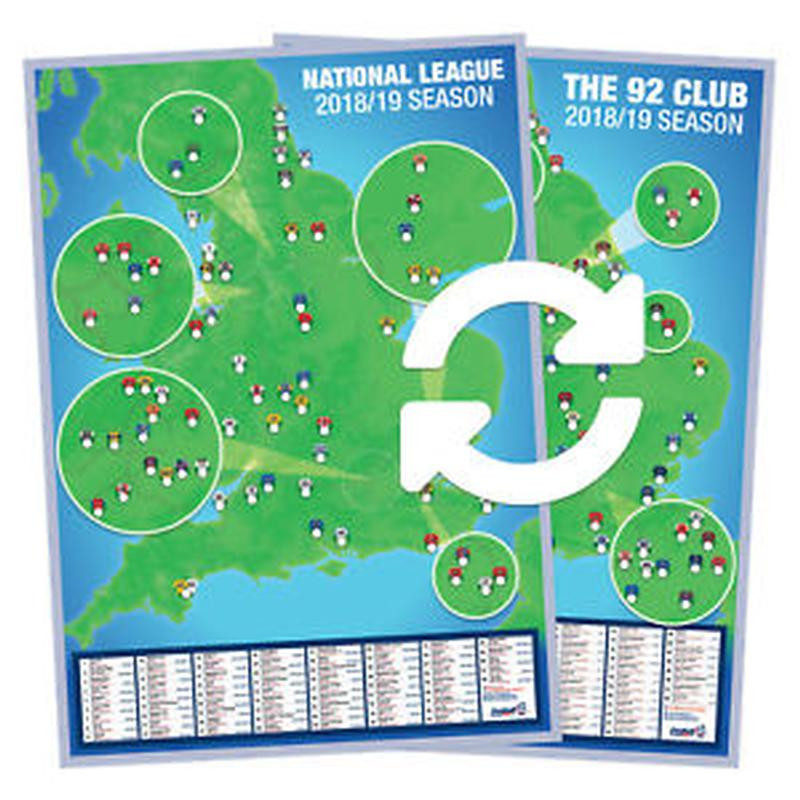 A1 Double-sided Football Ground Map